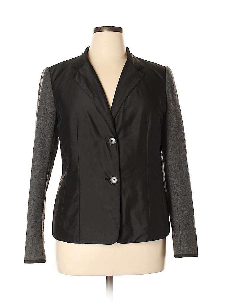 Lafayette 148 New York Women Wool Coat Size 14