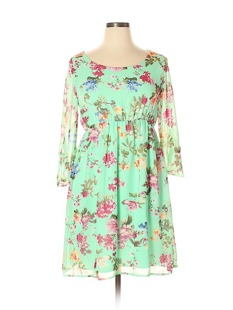 Pink Blush Women Casual Dress Size XL