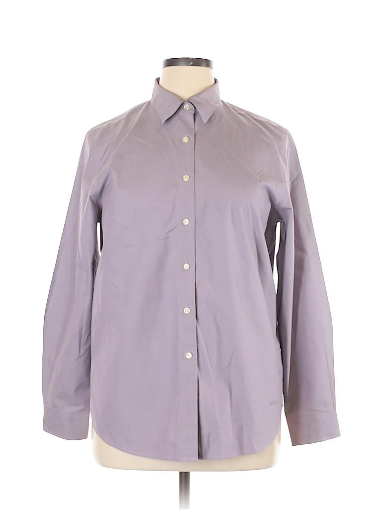 Orvis Women Long Sleeve Button-Down Shirt Size 14