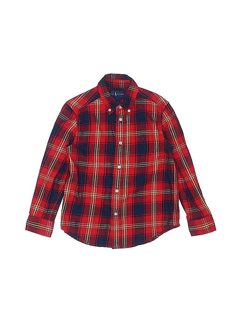 Ralph Lauren Girls Long Sleeve Button-Down Shirt Size 5