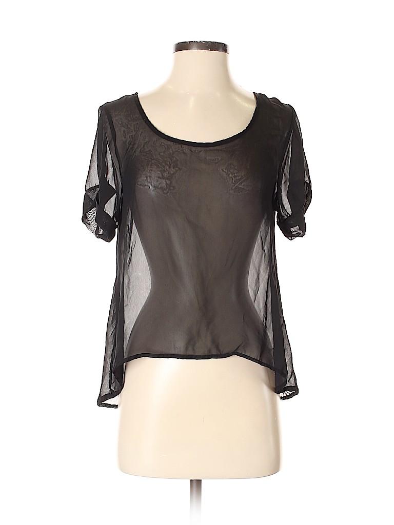 Kirra Women Short Sleeve Blouse Size S