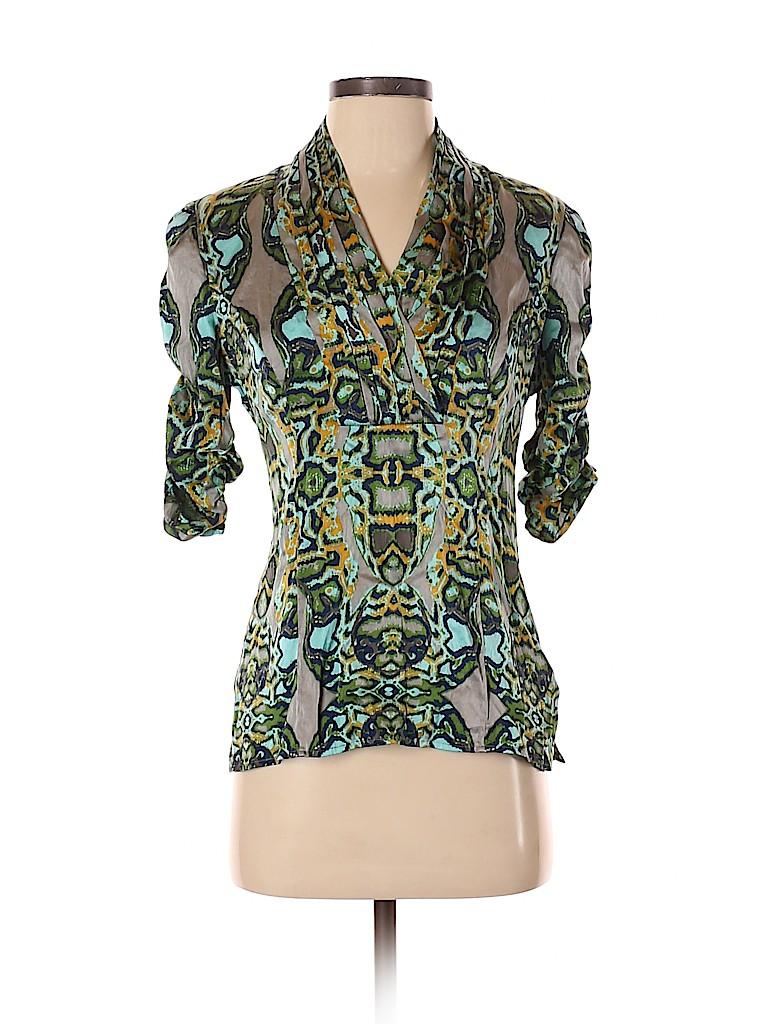 Etcetera Women Short Sleeve Silk Top Size 2