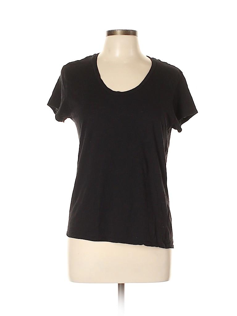 Mango Women Short Sleeve T-Shirt Size L