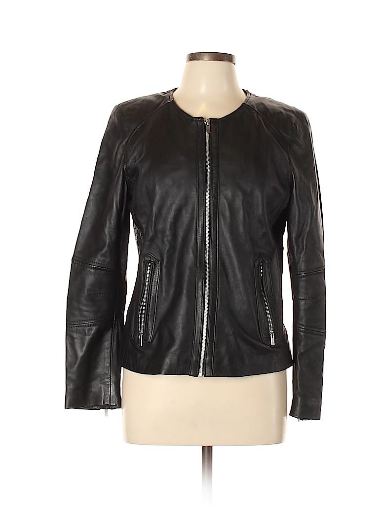 Mango Women Leather Jacket Size L