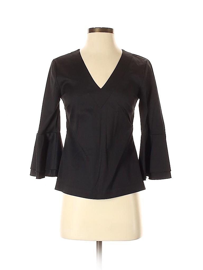 White House Black Market Women 3/4 Sleeve Blouse Size 0