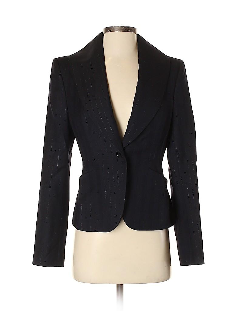 Richard Tyler Women Wool Blazer Size 2