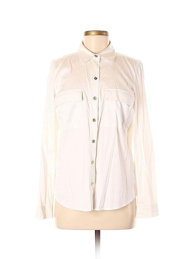 MICHAEL Michael Kors Women Long Sleeve Button-Down Shirt Size 10