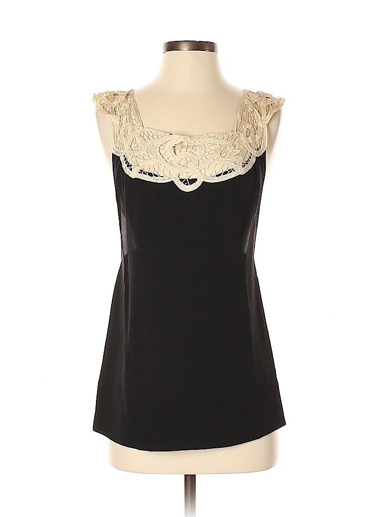 By Francine Women Sleeveless Silk Top Size S