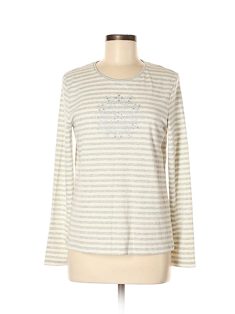 Croft & Barrow Women Long Sleeve T-Shirt Size M