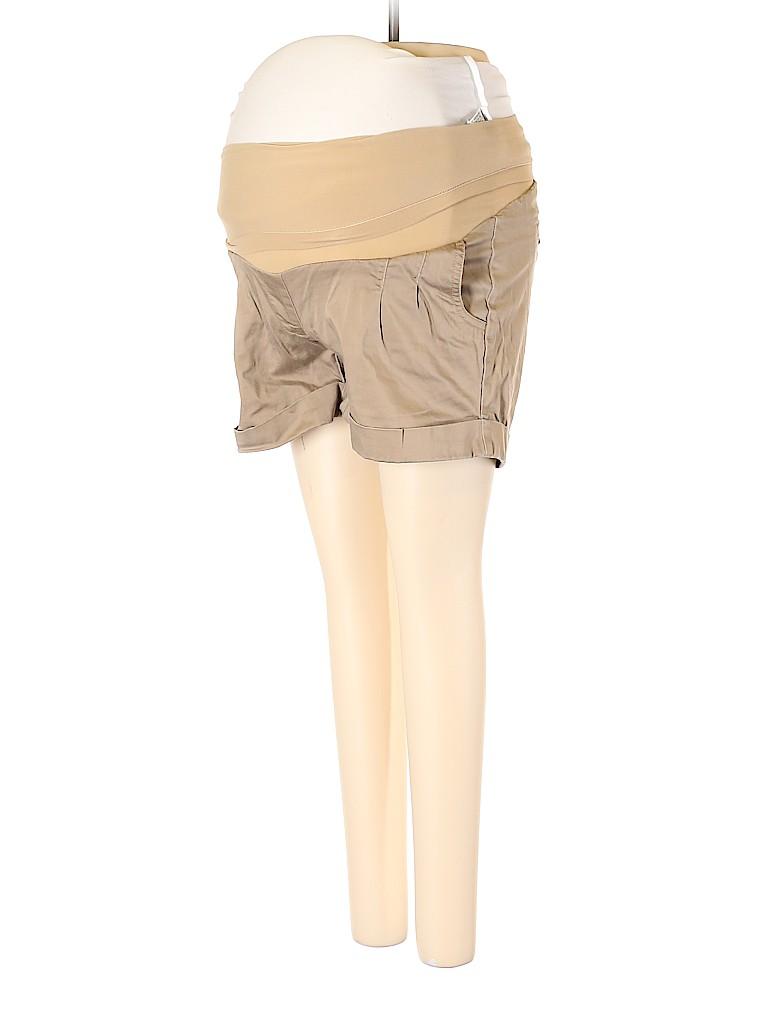 Oh Baby By Motherhood Women Khaki Shorts Size S (Maternity)