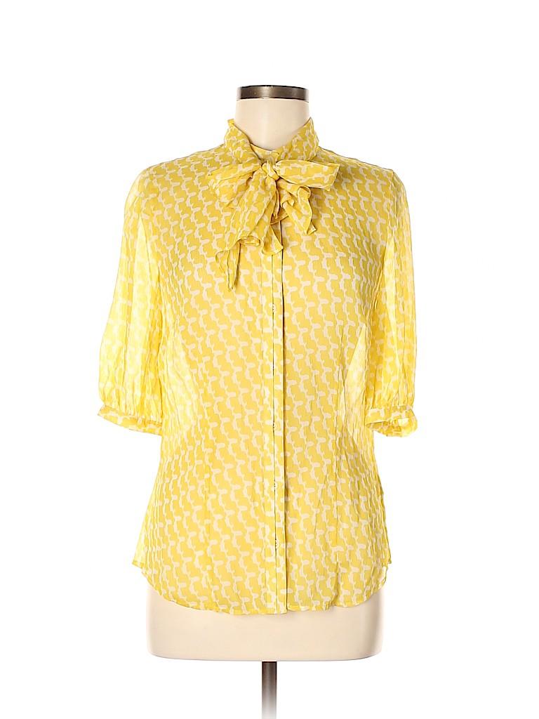 Club Monaco Women Short Sleeve Silk Top Size M