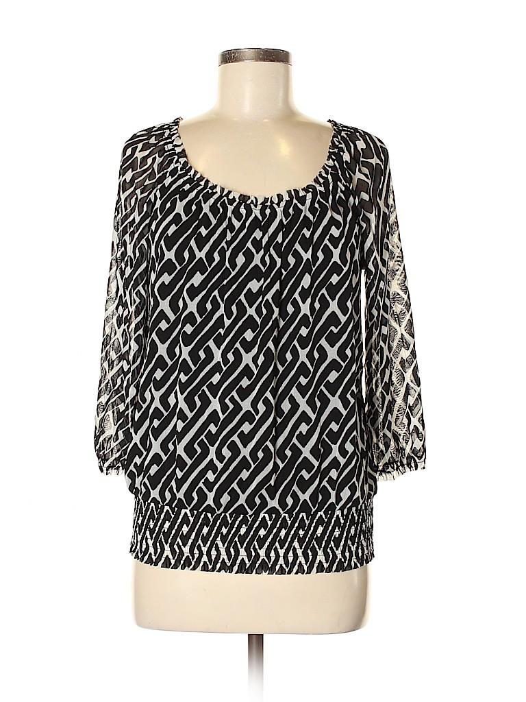 INC International Concepts Women 3/4 Sleeve Top Size M