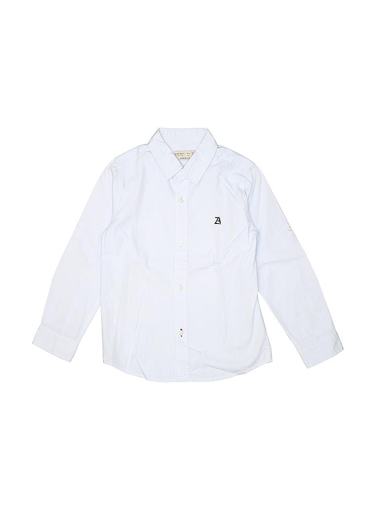 Zara Boys Long Sleeve Button-Down Shirt Size 5 - 6