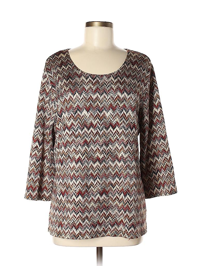 Alfred Dunner Women 3/4 Sleeve Top Size XL