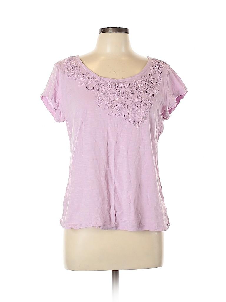 Madison Women Short Sleeve Top Size L