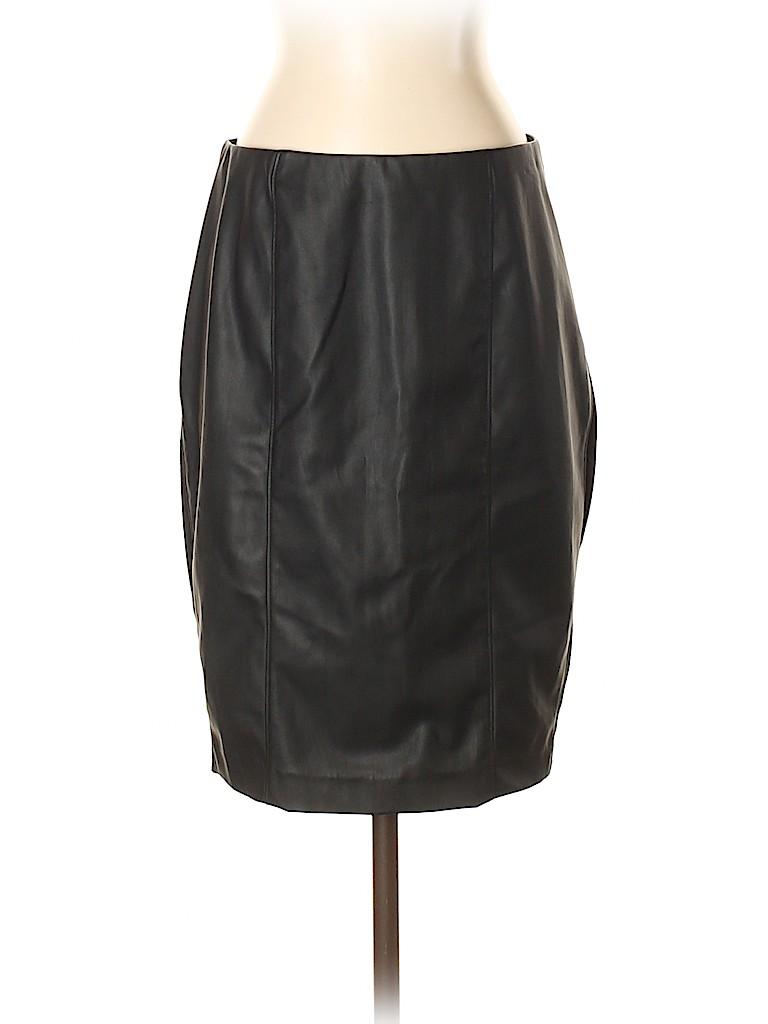 Ellen Tracy Women Faux Leather Skirt Size S