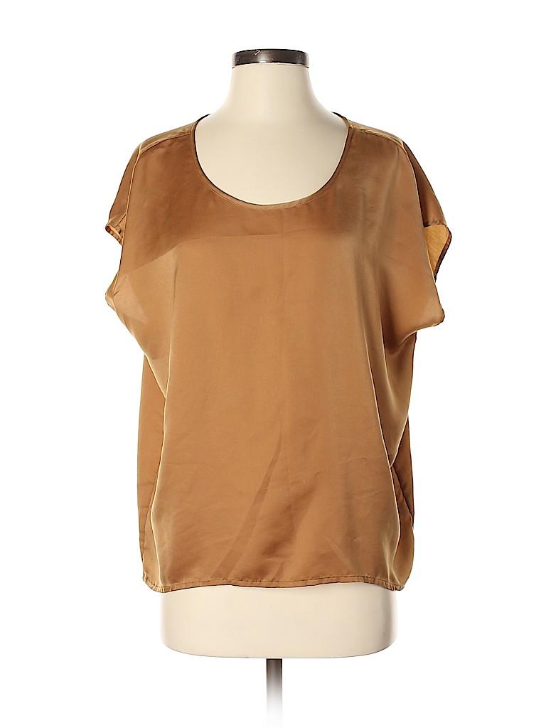 Frenchi Women Short Sleeve Blouse Size S
