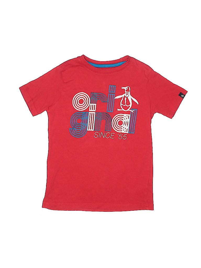 An Original Penguin by Munsingwear Boys Short Sleeve T-Shirt Size 8 - 9