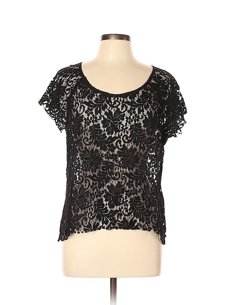Patterson J. Kincaid Women Short Sleeve Blouse Size L