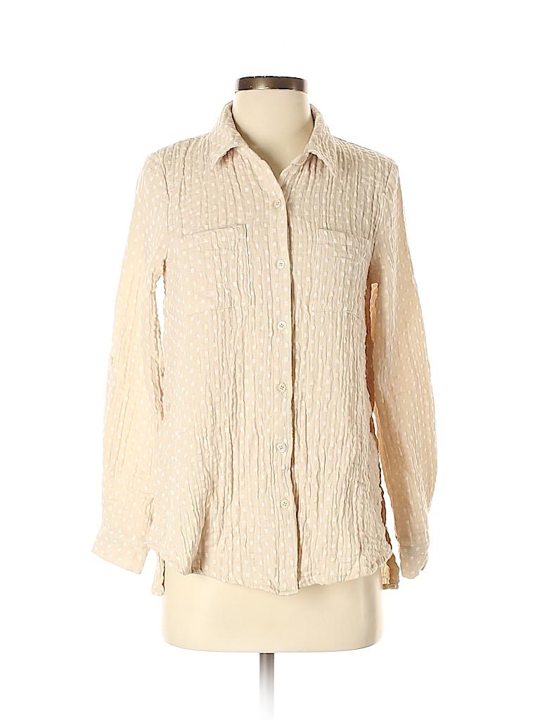 Orange Creek Women Long Sleeve Button-Down Shirt Size S