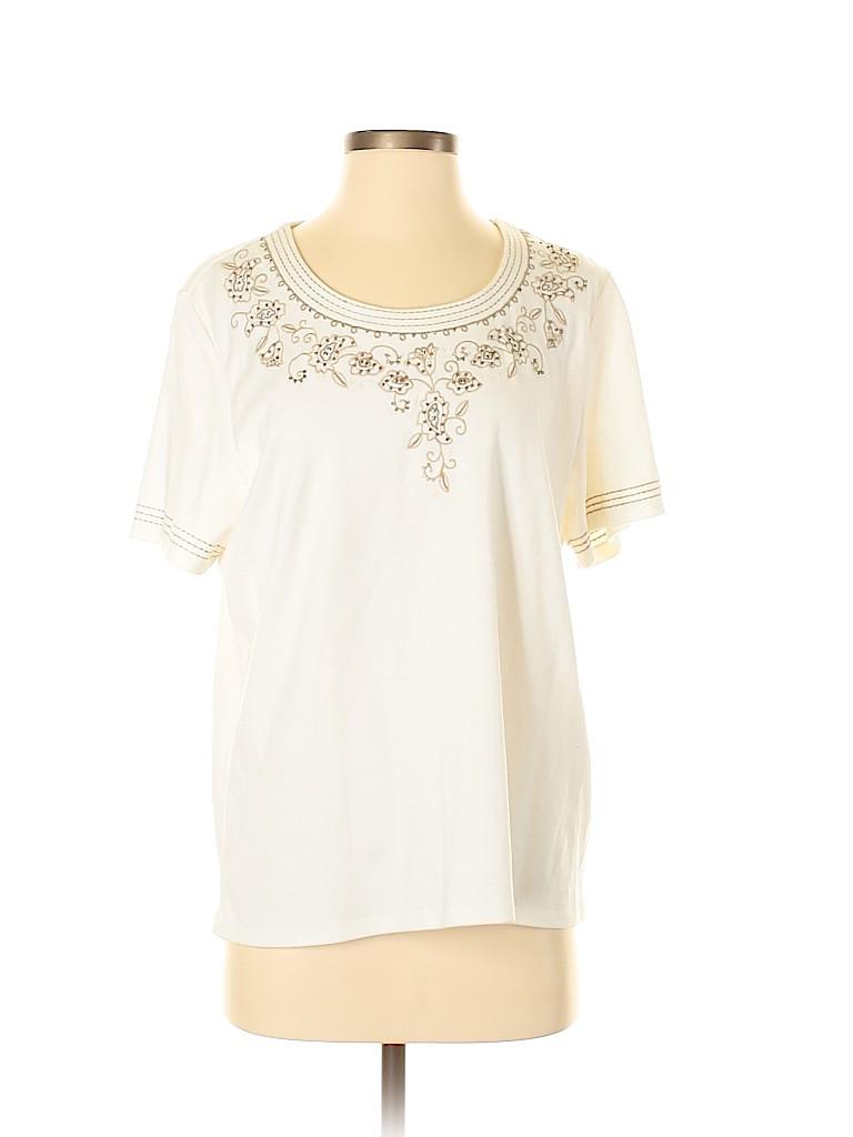 Alfred Dunner Women Short Sleeve T-Shirt Size M
