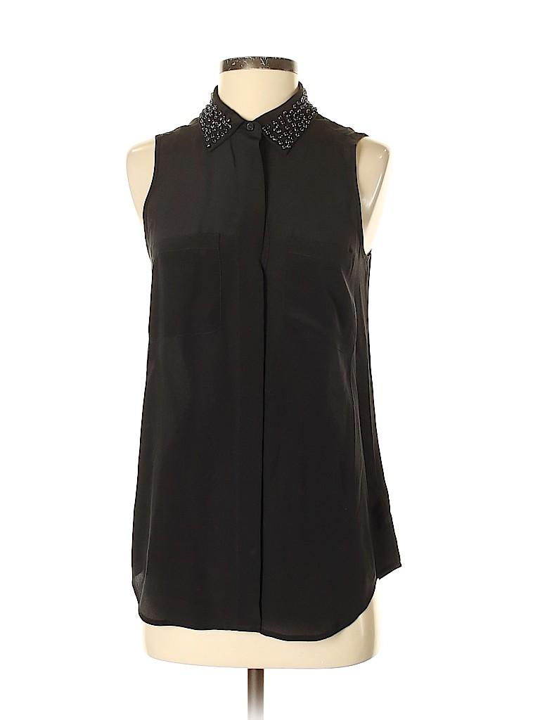 Madewell Women Sleeveless Silk Top Size S