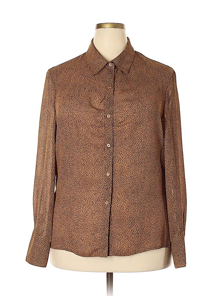 Norton McNaughton Women Long Sleeve Blouse Size 18 (Plus)