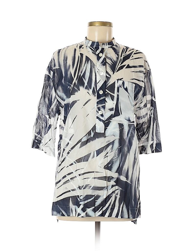 Lafayette 148 New York Women 3/4 Sleeve Blouse Size M