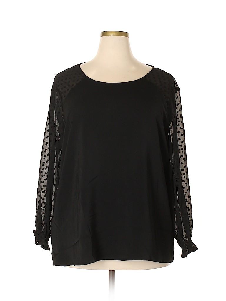 Violeta by Mango Women Long Sleeve Blouse Size XL (Plus)