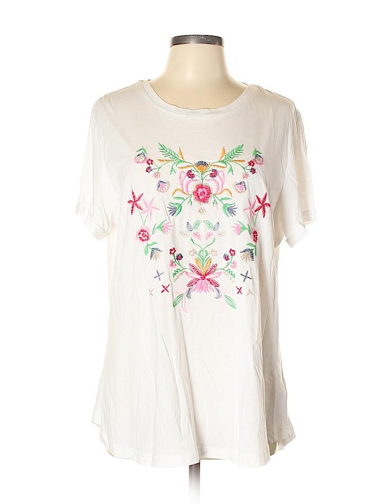 Hannah Women Short Sleeve Top Size XL