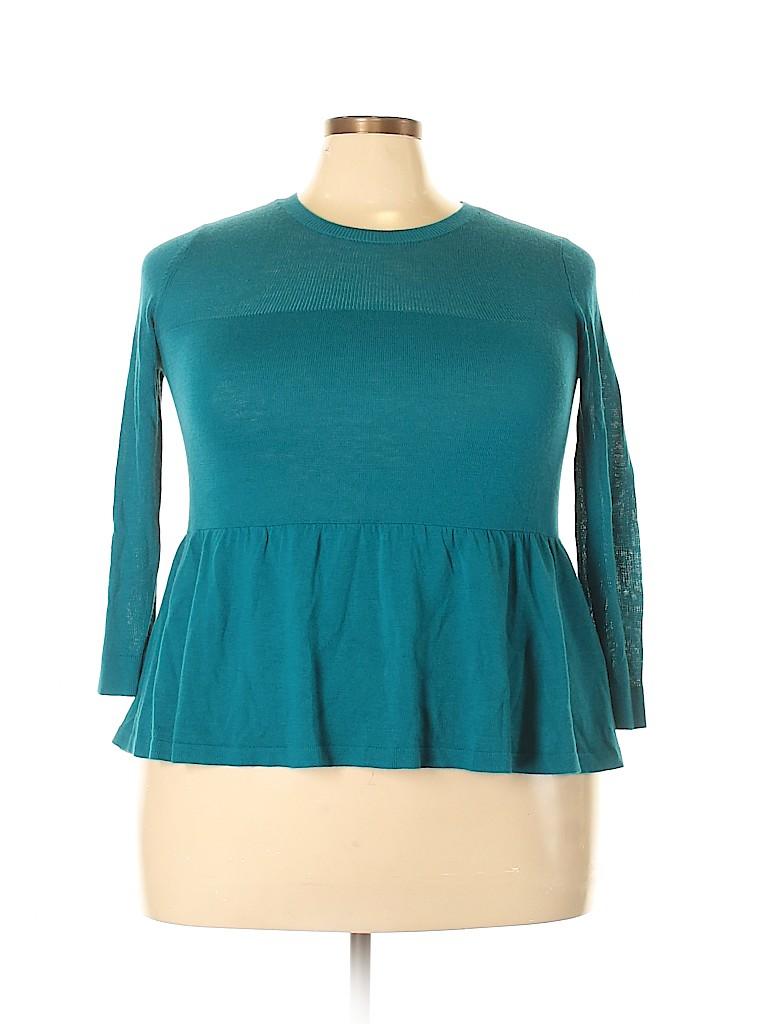 Halogen Women 3/4 Sleeve Top Size 1X (Plus)