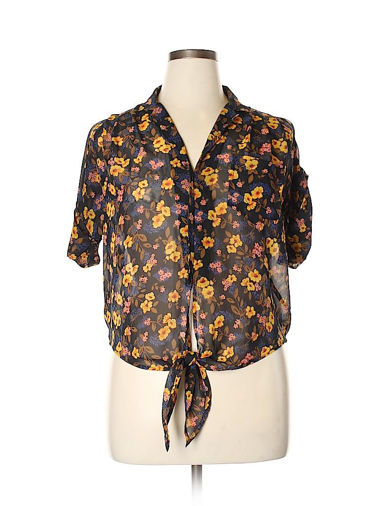 Mimi Chica Women Short Sleeve Blouse Size L