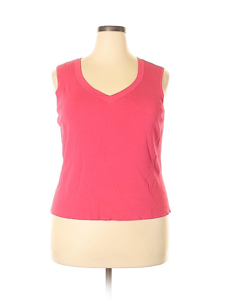 Talbots Women Sleeveless Top Size 2X (Plus)