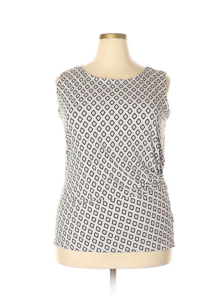 Jones New York Collection Women Sleeveless Top Size 1X (Plus)