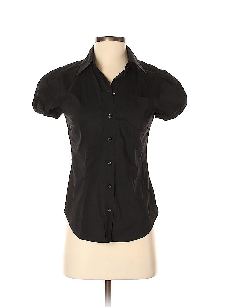 New York Transit Women Short Sleeve Button-Down Shirt Size XS