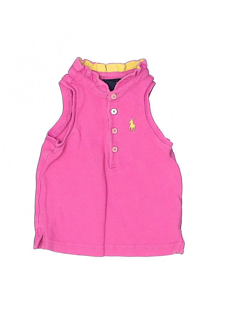Ralph Lauren Girls Sleeveless Polo Size 12 mo