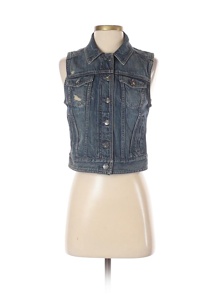 Express Jeans Women Denim Vest Size S