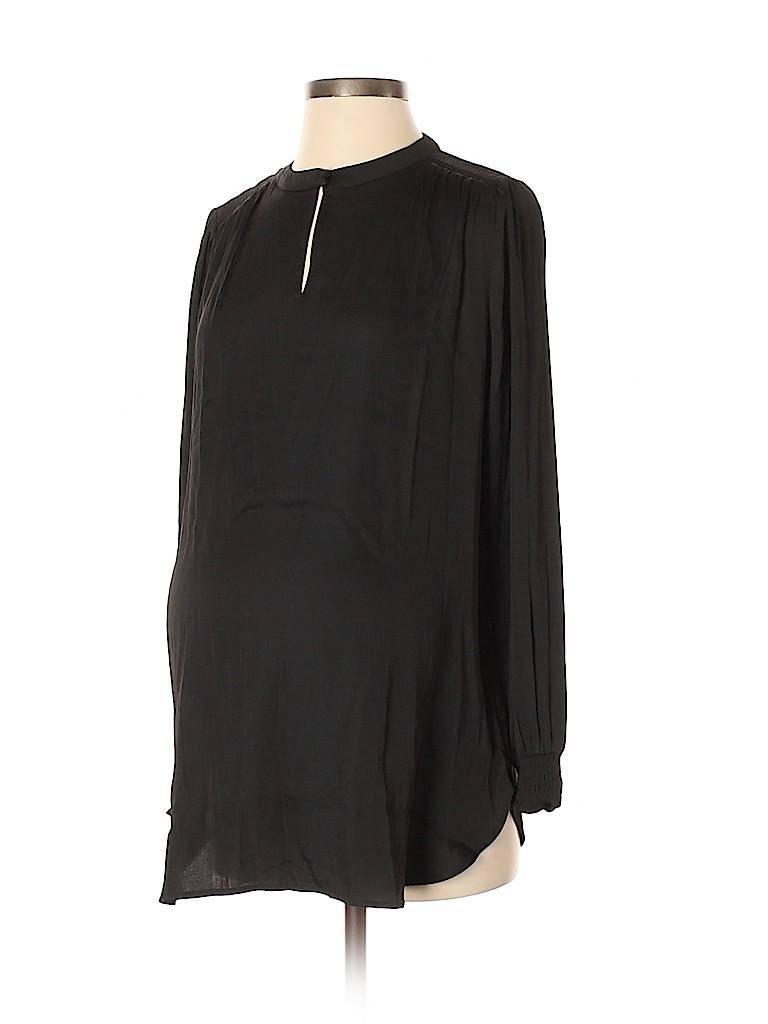 Ann Taylor LOFT Women Long Sleeve Blouse Size S (Maternity)
