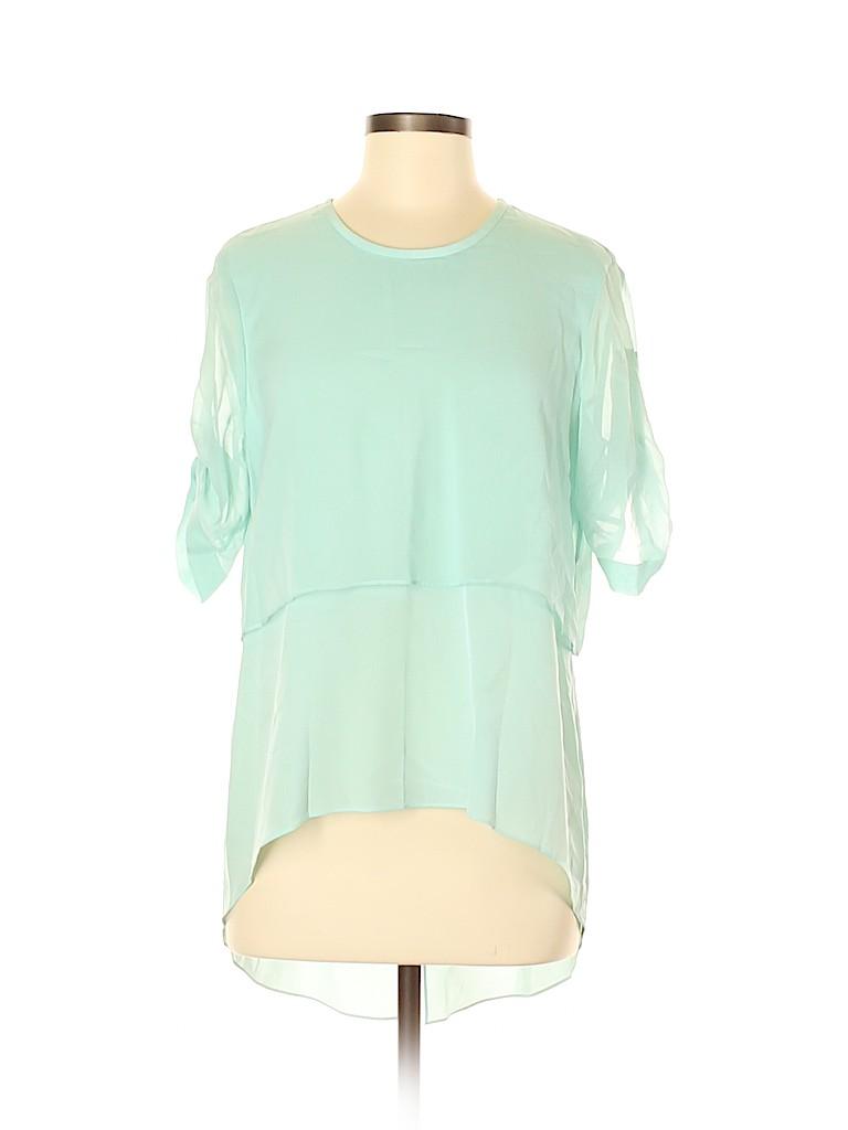 BCBGMAXAZRIA Women Short Sleeve Blouse Size M