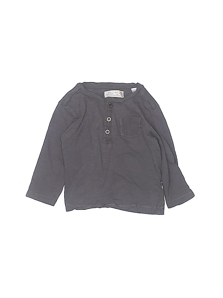 Zara Boys Long Sleeve Henley Size 6-9 mo