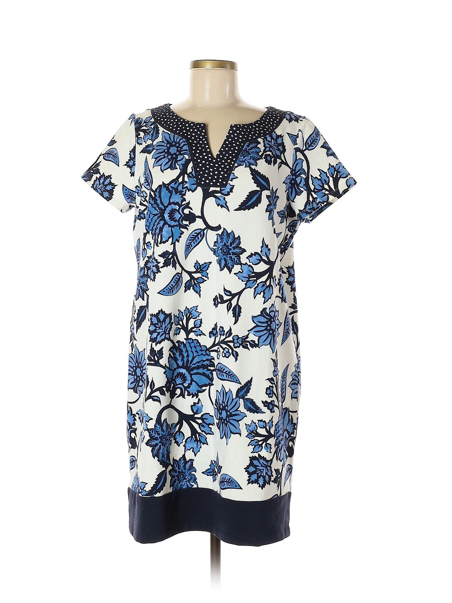 47ec7c7c58 Susan Graver Women Blue Casual Dress Med   eBay