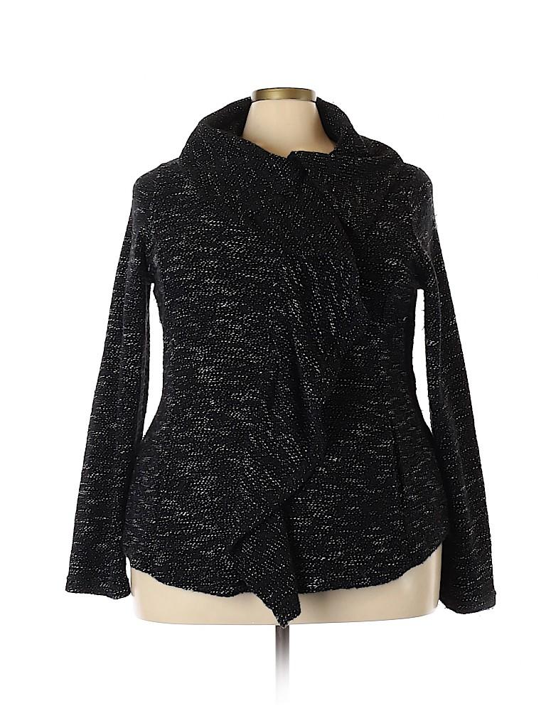 BNCI by Blanc Noir Women Cardigan Size 2X (Plus)