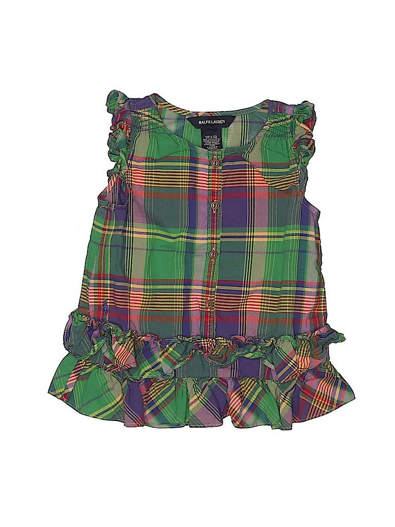 Ralph Lauren Girls Sleeveless Blouse Size 4