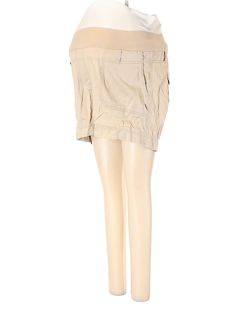 Motherhood Women Khaki Shorts Size S (Maternity)