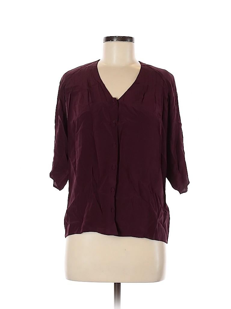 Rachel Roy Women 3/4 Sleeve Silk Top Size XS