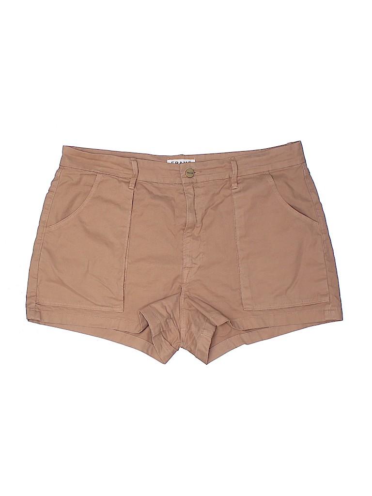 FRAME Denim Women Khaki Shorts 32 Waist