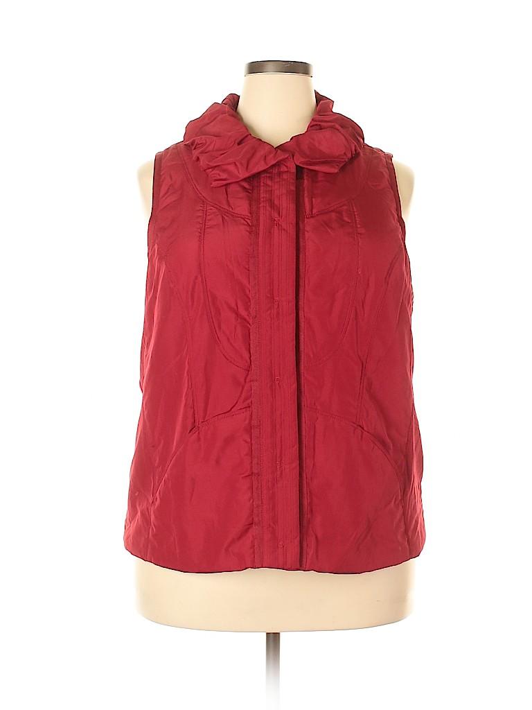 Cj Banks Women Vest Size 1X (Plus)