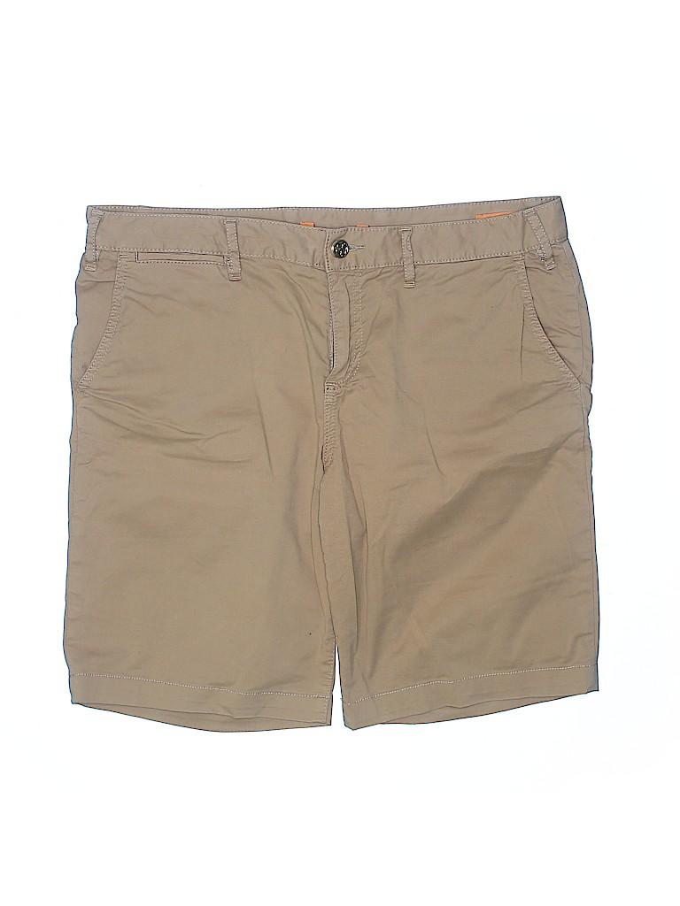 Tory Burch Women Khaki Shorts 31 Waist