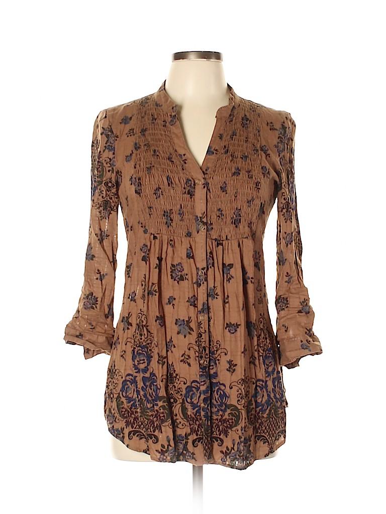 Daytrip Women Long Sleeve Blouse Size L