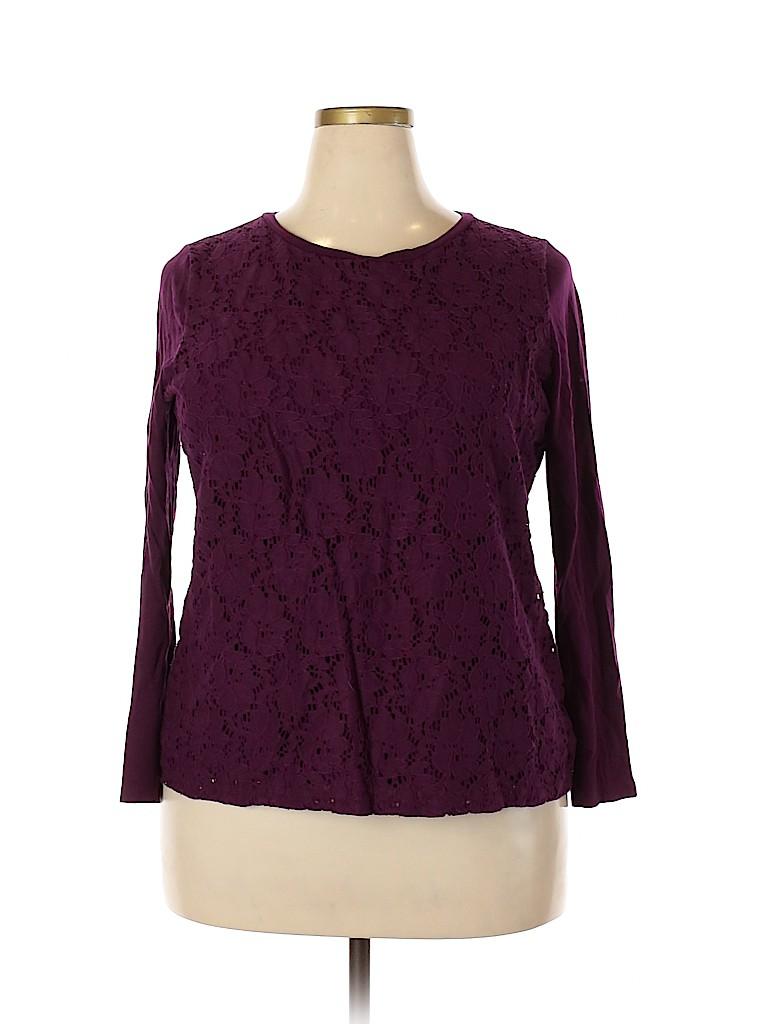 Talbots Women Long Sleeve Top Size 1X (Plus)